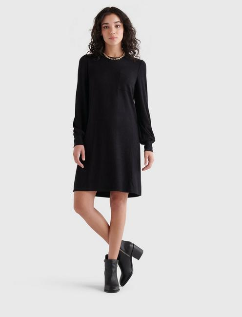 Cozy Knit Dresses Suitable from Work to Home